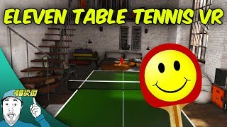 "Playing a great VR Table Tennis game that has some really good physichs, giving you that genuine feel of actually playing some real Table Tennis! I'm taking on the A.I in a match, testing the minigames and give you my overall impressions of the game!BECOME A CHAMPION! Eleven: Table Tennis VR (HTC Vive Gameplay)Eleven: Table Tennis VR on Steam:http://store.steampowered.com/app/488310/Eleven_Table_Tennis_VR/Support my channel by playing mobile games:http://bit.ly/40SplishSplashGames(Open link on your mobile device)10% off using promocode ""40SS"" when shopping at https://exoticmice.shop/Gaming mice, mouse pads and more!Support the video with a LIKE? Appeciated! SUBSCRIBE for Future Vids►http://www.youtube.com/user/40splishsplashWanna join TGN?http://bbtv.go2cloud.org/SH4OMy business mailadress:40splishsplash@gmail.com_________________________________________________________________★ ABOUT THE GAME:The first virtual reality ping pong experience available on Steam! Single and Multiplayer virtual reality ping pong. Play a 1 vs. 1 , against opponents online, or a slew of mini games to hone your skillsMusic:http://www.epidemicsound.com_________________________________________________________________★ SOCIAL MEDIA:http://www.facebook.com/40splishsplash?ref=hlhttps://www.google.com/+40splishsplashhttps://twitter.com/40splishsplashhttp://www.twitch.tv/40splishsplashhttps://instagram.com/40splishsplash/Do you like gaming, anime and film?Check out the latest podcast atThe Button Smasher Podcast:http://thebuttonsmashers.com/2016/04/bsp-ep-130-the-perfect-weekend/Website:http://thebuttonsmashers.com_________________________________________________________________★ Have fun and I hope to see you around my channel!"