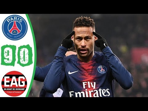 PSG vs Guingamp 9-0 All Goals & Exyended Highlights (19/01/2019) HD