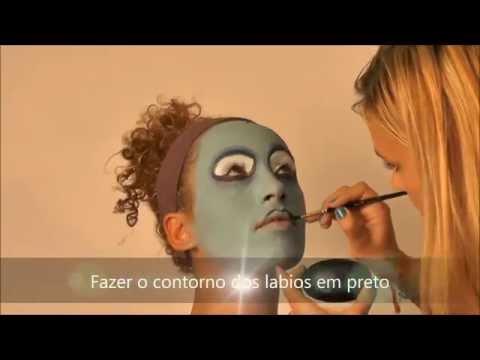 Dica Make-up Sally - Nightmare before Christmas