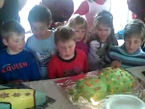 Kids Blowing Out Candle On Alien and Rocket Ship Birthday Cakes – Really Funny!