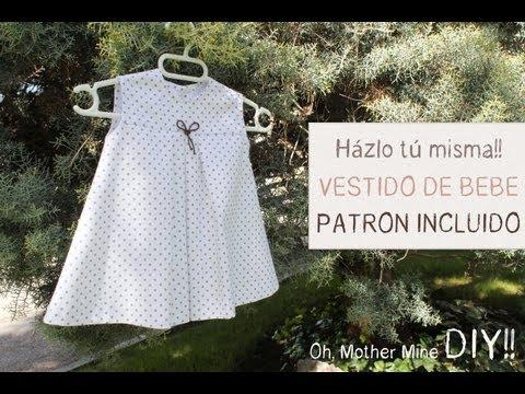 ROPA DE BEBES - DIY Ropa bebé: Cómo hacer vestido de bebé niña muy fácil (patrón en varias tallas incluido). Despliega la descripción para obtener toda la información!!! DES...