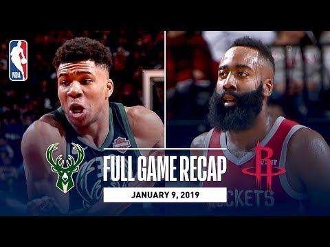 Full Game Recap: Bucks vs Rockets | Giannis and Harden Record Monster Double-Doubles