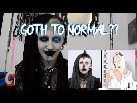 My Goth to Normal Transformation || Vampryn's REACTION
