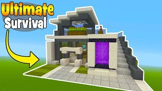 """Minecraft Tutorial: How To Make The Ultimate Modern Survival House! """"Ultimate Survival House"""""""