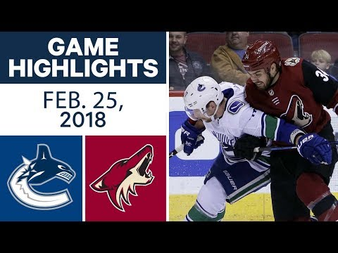 Video: NHL Game Highlights | Canucks vs. Coyotes - Feb. 25, 2018