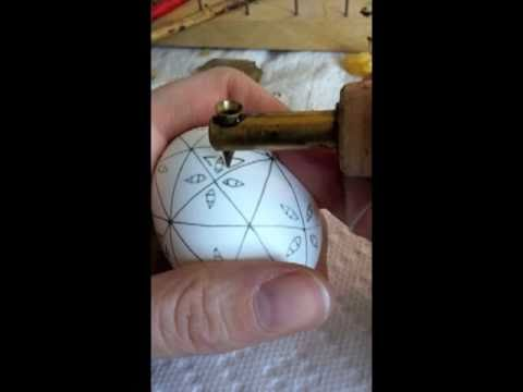 Pysanka Demo Embroidered Egg - narrated instructions