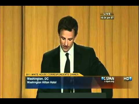 Seth Meyers Destroys Donald Trump @ White House Correspondents Dinner 5/1/2011