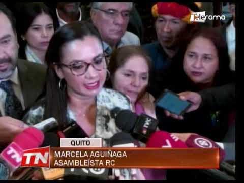 Correístas piden a Elizabeth Cabezas renunciar a la presidencia de la asamblea
