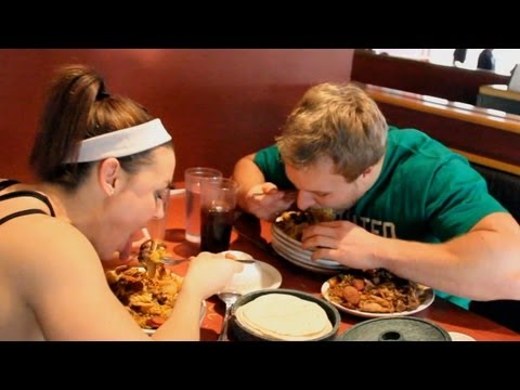 Furious Pete - Big Eats At Mongolian Grill with IFBB Fitness Pro Jodi Boam