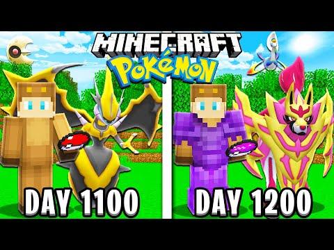 I Survived 1200 Days in Minecraft POKEMON!