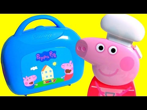 Chef Peppa Pig Cooking With Peppa Pig Mini Kitchen Case Maletín Cocina Cucina Cuisine Kuchnia 미니 주방