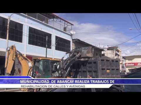 MUNICIPALIDAD DE ABANCAY REALIZO TRABAJOS DE REHABILITACION DE CALLES Y AVENIDAS