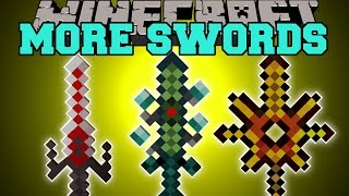 Minecraft: MORE SWORDS MOD (NEW SWORDS, MORE ENCHANTS!) Mod Showcase