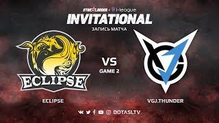 Eclipse против VGJ.Thunder, Вторая карта, SL i-League Invitational S4 Китайская Квалификация