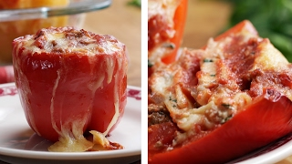 Lasagna-Stuffed Peppers by Tasty
