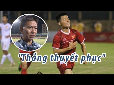 """HLV Hoàng Anh Tuấn: """"U19 Việt Nam thắng Trung Quốc thuyết phục"""" - Thời lượng: 70 giây."""