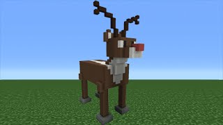 Minecraft Tutorial: How To Make A Reindeer (Rudolph) Statue