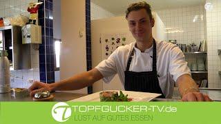 Pochiertes Schweinefilet im Wirsingmantel mit Barbiesauce   Rezeptempfehlung Topfgucker-TV