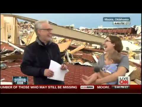 Wolf Blitzer Asks Tornado Survivor if She Thanked the Lord; Replies She's an Atheist