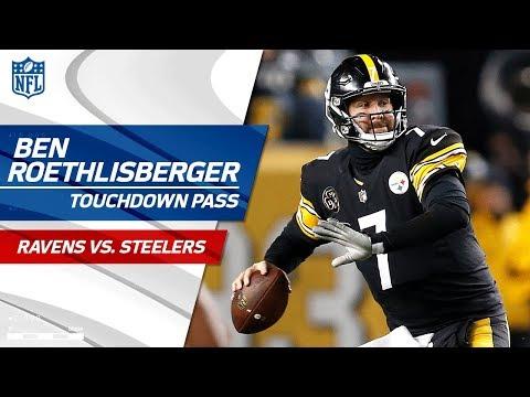 Antonio Brown's Ridiculous Catch-'n-Run Sets Up Big Ben's TD Pass! | Ravens vs. Steelers | NFL Wk 14