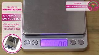 Cân điện tử tiểu ly Mini Digital Scale - Màn hình LCD - Dụng cụ nghề Hoàng Long