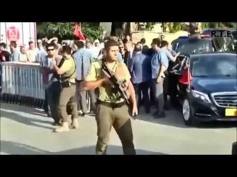 Кортеж президента Турции Эрдогана (видео)