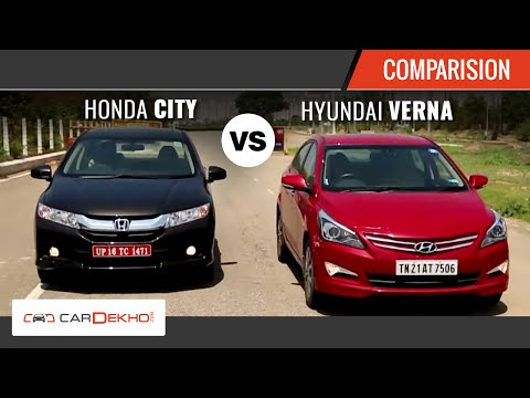 2015 Honda City Vs Hyundai Verna I Comparison Video I CarDekho.com