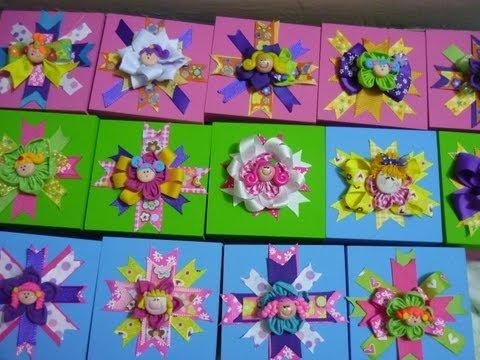 Manualidades y accesorios la hormiga. Cajas decoradas con cintas y flores de tela  video No.88
