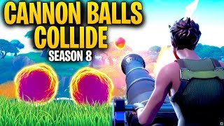 What Happens When TWO CANNON BALLS COLLIDE In Mid Air?   Fortnite Season 8 Mythbusters!