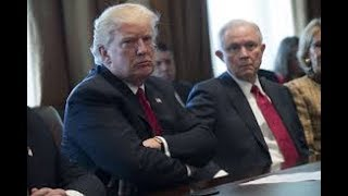 """President Trump this morning called Attorney General Jeff Sessions """"beleaguered"""" after criticizing him in a recent interview with..."""