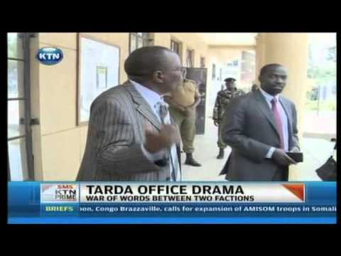 former - Drama ensued at the TARDA offices after high court judge, Lady Justice Monica Mbaru directed the permanent secretary for regional developmenmt, Carey Orege t...
