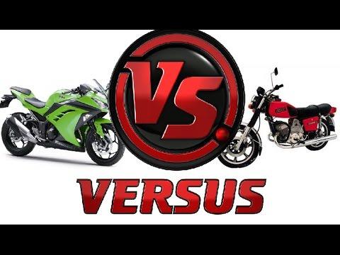 , title : 'Мотоцикл Иж Юпитер 5 против Kawasaki ninja'
