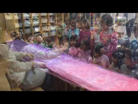 和光鶴川幼稚園 こいのぼり縫って作ったよ