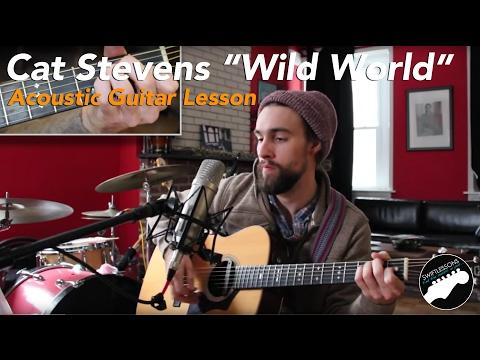 "Acoustic Guitar Lesson – ""Wild World"" By Cat Stevens"