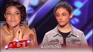 Video Benicio Bryant: Judges Did NOT Expect This Shy Boy's Voice | America's Got Talent 2019 MP3, 3GP, MP4, WEBM, AVI, FLV Agustus 2019