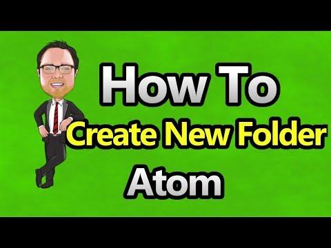 Atom - Create New Folder in Project