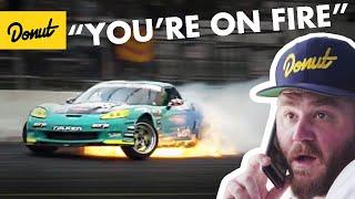 Video Formula Drift Corvette catches on Fire + Odi gets Top8 | Frenemies Irwindale MP3, 3GP, MP4, WEBM, AVI, FLV Desember 2018