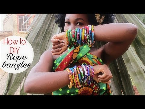 How To DIY ANKARA African Print Rope Bangles