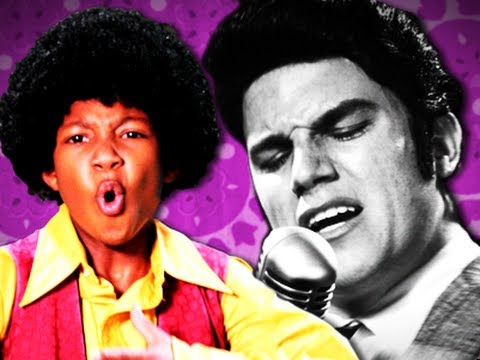 Michael Jackson VS Elvis Presley.  Epic Rap Battles of History Season 2. (видео)