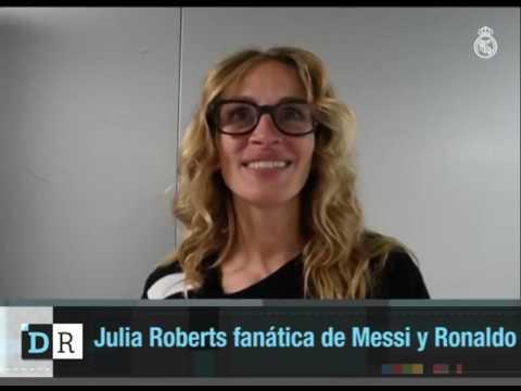 Así se presentó Julia Roberts con Messi y Ronaldo