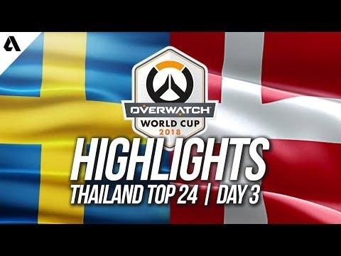 Sweden vs Denmark | Overwatch World Cup 2018 Thailand Qualifier Day 3