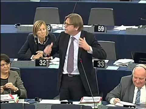 Guy verhofstadt: Biggest waste of EU resources is Nigel Farage's salary