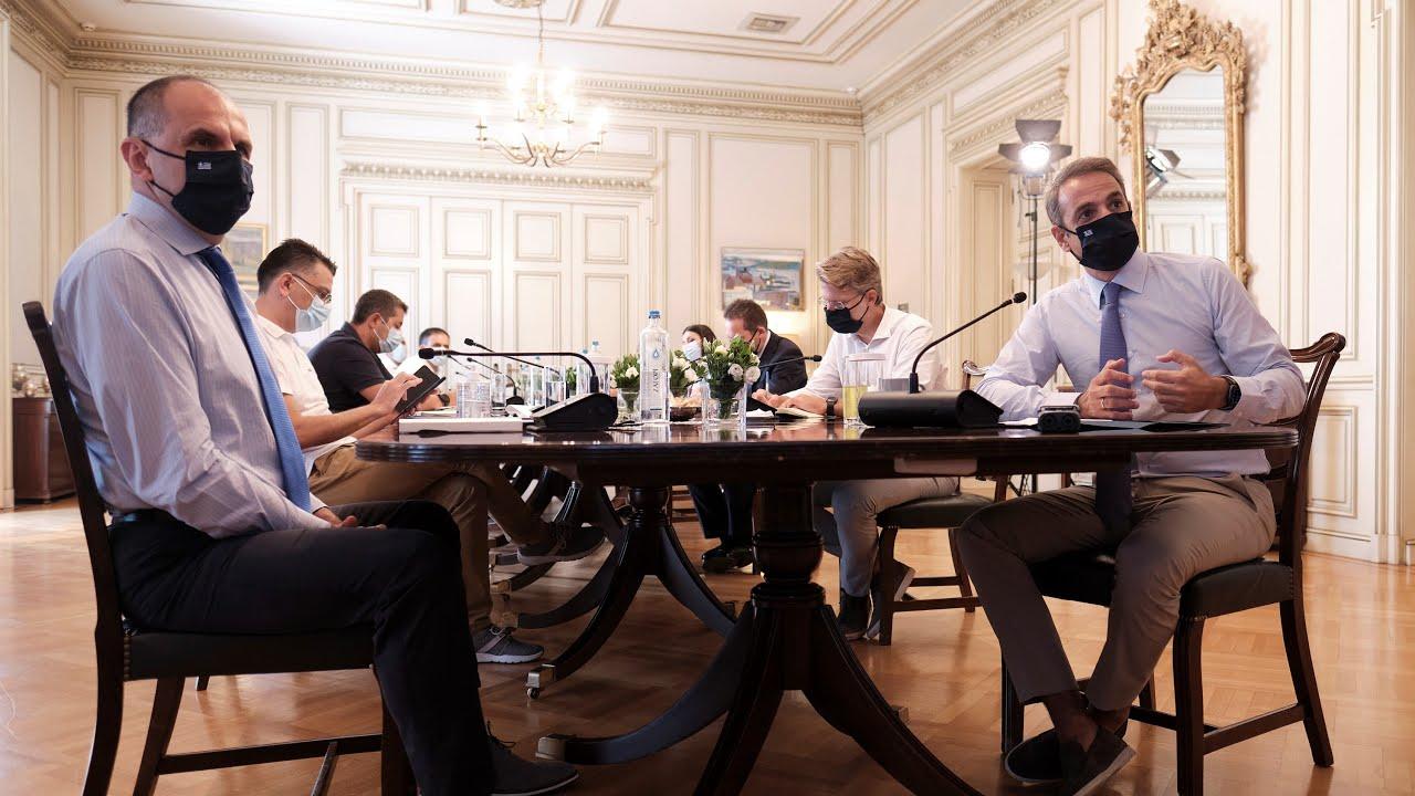 Τοποθέτηση του Πρωθυπουργού Κυριάκου Μητσοτάκη στην τακτική σύσκεψη για τον κορωνοϊό