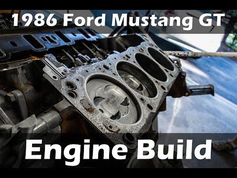 1986 Mustang GT SHO Engine Build Timelapse