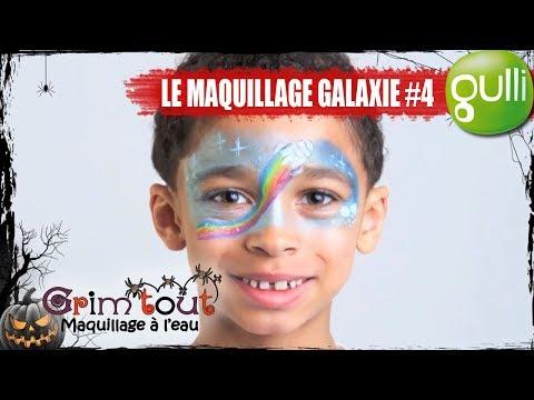 TUTO GULLI I HALLOWEEN avec GRIM'TOUT I Le maquillage Galaxie ! #4