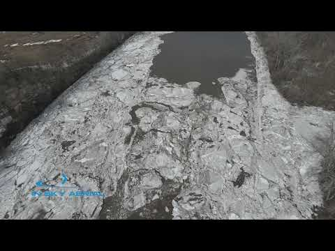 Ice Jam Breaking Along the Mohawk River in Rotterdam Junction NY.