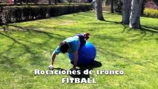 Rotaciones de tronco sobre fitball
