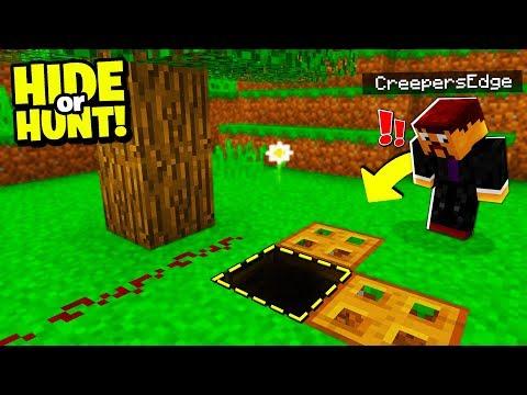i found a SECRET hatch door under a TREE.. - Hide Or Hunt #4