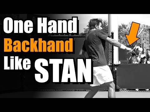 Hit Your Backhand Like Stanislas Wawrinka – One Handed Backhand Tennis Lesson