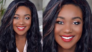"All drugstore makeup tutorial on this Glowy Dewy summer makeup look. Summer night or summer day this look is versatile with a red lip. For some it might be natural or glam to 100. It's been my go to summer look. Hope you enjoy:)SUBSCRIBE LINK:http://bit.ly/1RDpkFtSUBSCRIBEWhen I'm not on here, I'm here:)http://www.roselkimberly.com/http://instagram.com/roselkimberlyhttps://twitter.com/RoseLKimberlySnapchat- roseyrosechickTOP 3 PLAYLISTSHOW TO VIDEO'S Black Woman: https://www.youtube.com/watch?v=A7kmk...Makeup Tutorials:https://www.youtube.com/watch?v=UbENJ...Drugstore Reviewshttps://www.youtube.com/watch?v=sgnBc...♥ ♥♥ ♥♥ ♥♥ ♥♥ ♥♥ ♥♥not sponsored.Camera: Nikon d5100Editing: Final Cut Pro 10For any business inquiries please use the email below with the subject ""Rose Kimberly"": business@beaufreshmedia.comR O S E K I M B E R L Y NEW video every Wednesday, and Sunday 10:00pm EST/07:00pm PST! I'm a 22 NYC girl who Graduated with my bachelor's in Cosmetics Chemistry and Marketing. I studied makeup, hair, nail, skincare + MORE.Subscribe & Let's be friends!PRODUCTS USED TODAYNo 7 Stay Perfect Foundation *ChestnutWet N Wild Concealer *Medium DeepMaybelline FIT ME Powder *320Black Radiance Contour Palette *Light to MediumMUG Morocco, MUG MochaColourpop Canoli Highlighter TrioBlackup lashesLoreal mascaral.a girl white eyelinerBlack Radiance *Toasted AlmondMaybelline Red Revival"
